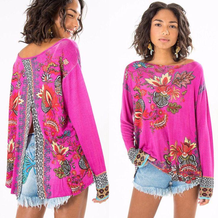 """Novidade  no efarm. Apaixonada por esse tricot middi floral bela   de R$ 259,00   por R$ 233,10  . Inserindo o código promocional D937 no """"campo do vendedor"""" ao finalizar sua compra ganha 10% de desconto ➕ frete grátis"""