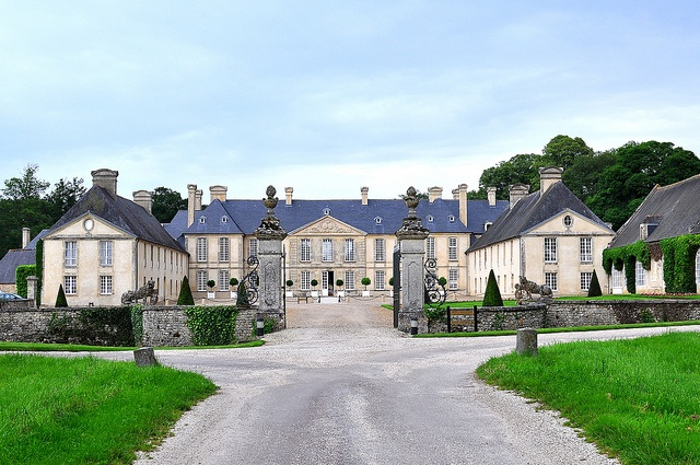 Relais & Chateaux - Château d'Audrieu, located between Caen and Bayeux, offers the opportunity to travel back in time. Chateau d'Audrieu,  Audrieu, France #relaischateaux #garden