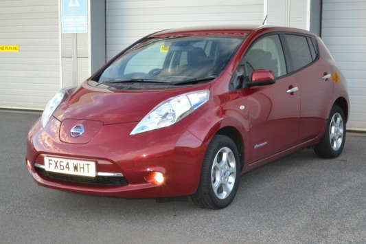 Used 2014 (64 reg) Red Nissan Leaf Acenta 5dr Auto for sale on RAC Cars