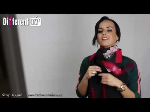 Jak uvázat šátek - 10 zajímavých způsobů! - YouTube