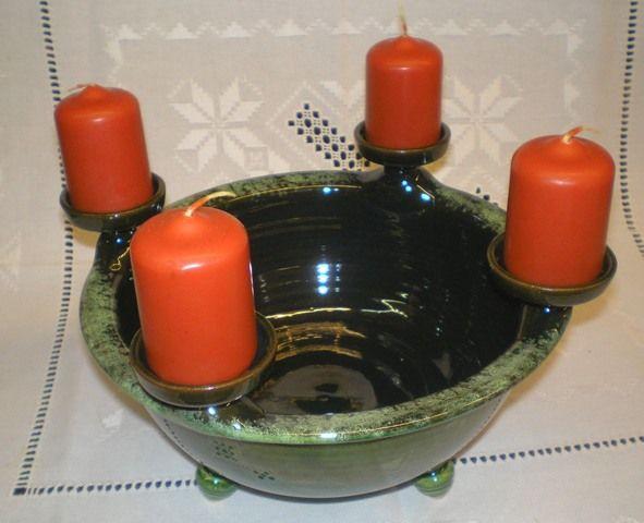 Handmade bowl for Advent.