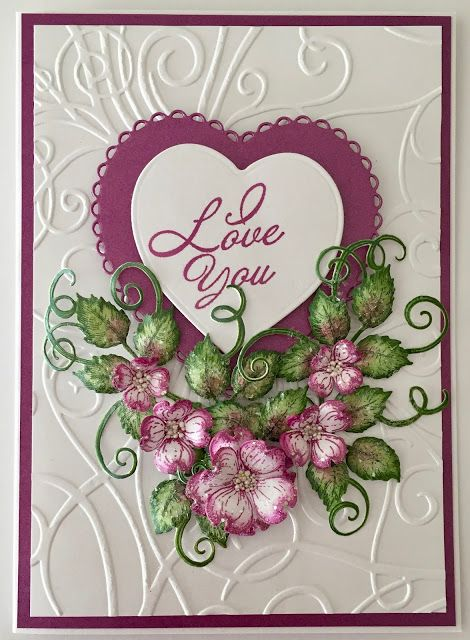 Jan's Paper Flowers: I Love You - Heartfelt Creations