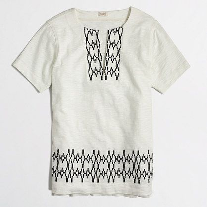 J.Crew Factory - Factory geometric-trim tunic
