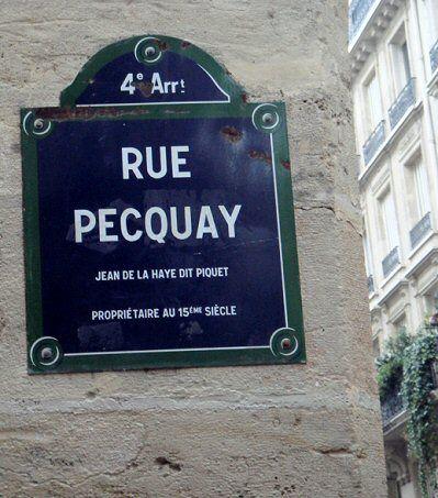 La rue Pecquay  (Paris 4ème)