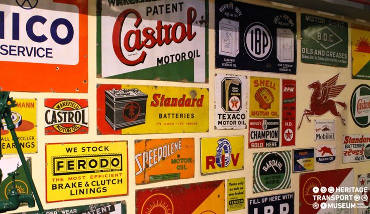 Here's the Petrol Pump wall of the museum decorated with enamel signs! :) :) #walldecor #wallart #heritage #transport #museum #travel #tourism #photography #vintage #explore