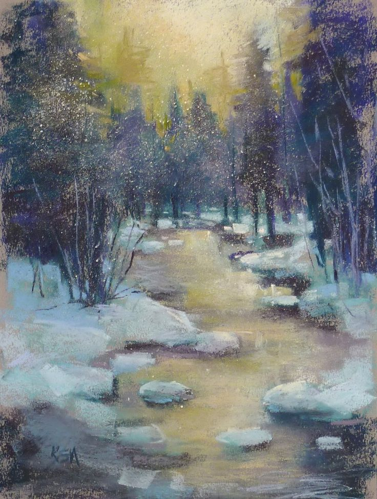 'The Promise of a New Year'        9x12          pastel       ©Karen Margulis  available $150   Happy New Year to all of my wonderful frie...