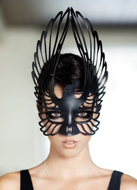 Gorgeous (& v. inexpensive) leather masks on Etsy (this one is $59.00).