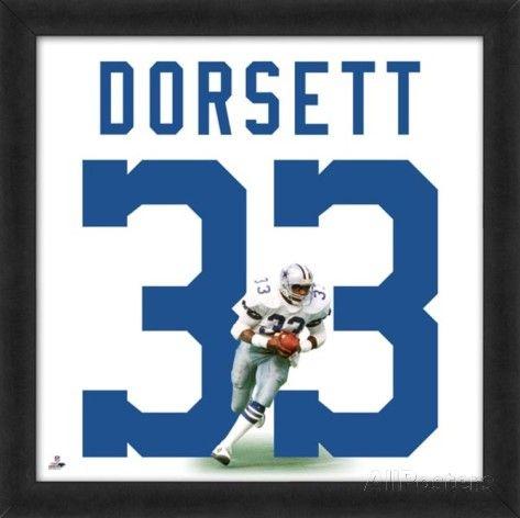 Tony Dorsett, Cowboys representation of the player's jersey Framed Memorabilia