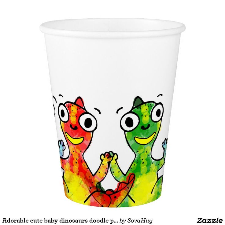 Adorable cute baby dinosaurs doodle picture design, kid's party ideas.