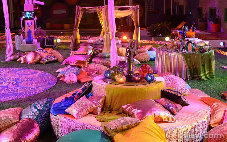 Cor e brilho marcam a decoração da Festa Indiana