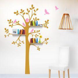 Sticker decorativ Copacel cu rafturi