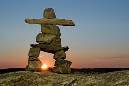 An inukshuk .....would love to visit Arviat again