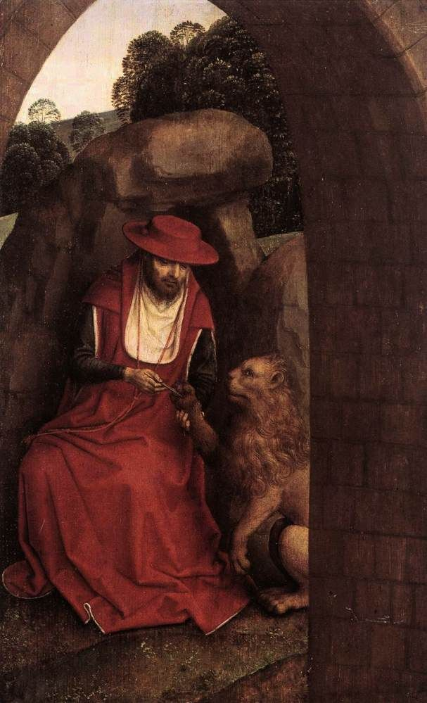 St. Jerome and the Lion by Hans Memling