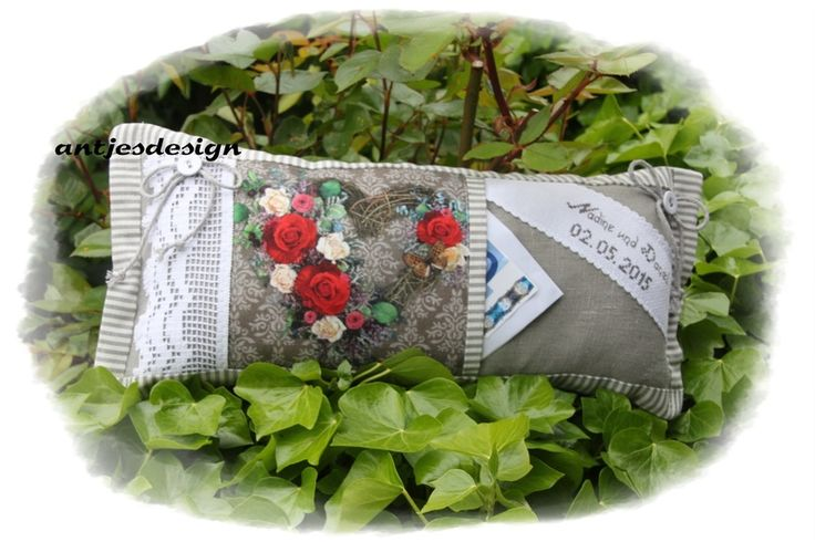Hochzeitsgeschenk Shabby Rosen  -  Geldgeschenk von Antjes Design auf DaWanda.com
