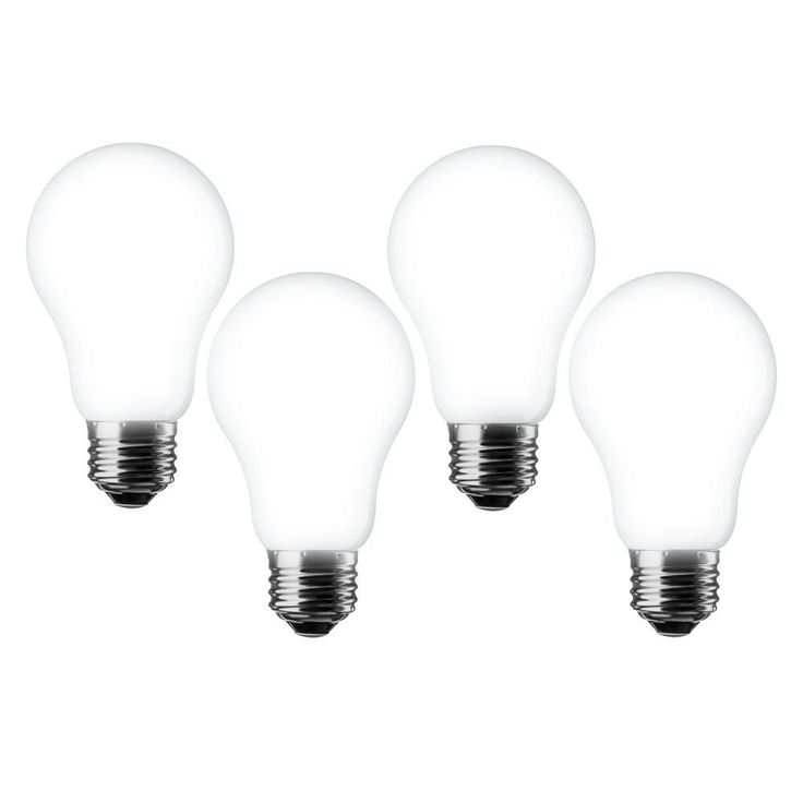 Meilo 60W Equivalent Daylight A19 Dimmable LED Light Bulb (4-Pack)