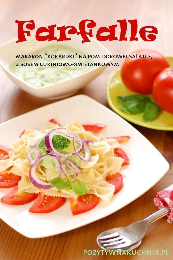 Makaron kokardki z sosem śmietankowo-cukiniowym - #przepis na #makaron z cukinią na #obiad  http://pozytywnakuchnia.pl/farfalle-z-sosem-cukiniowo-smietankowym/  #pasta #cukinia #kuchnia