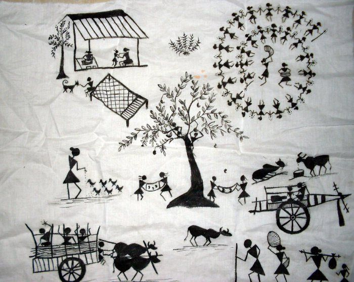Warli Painting | Shruti Harohalli Art Inc.