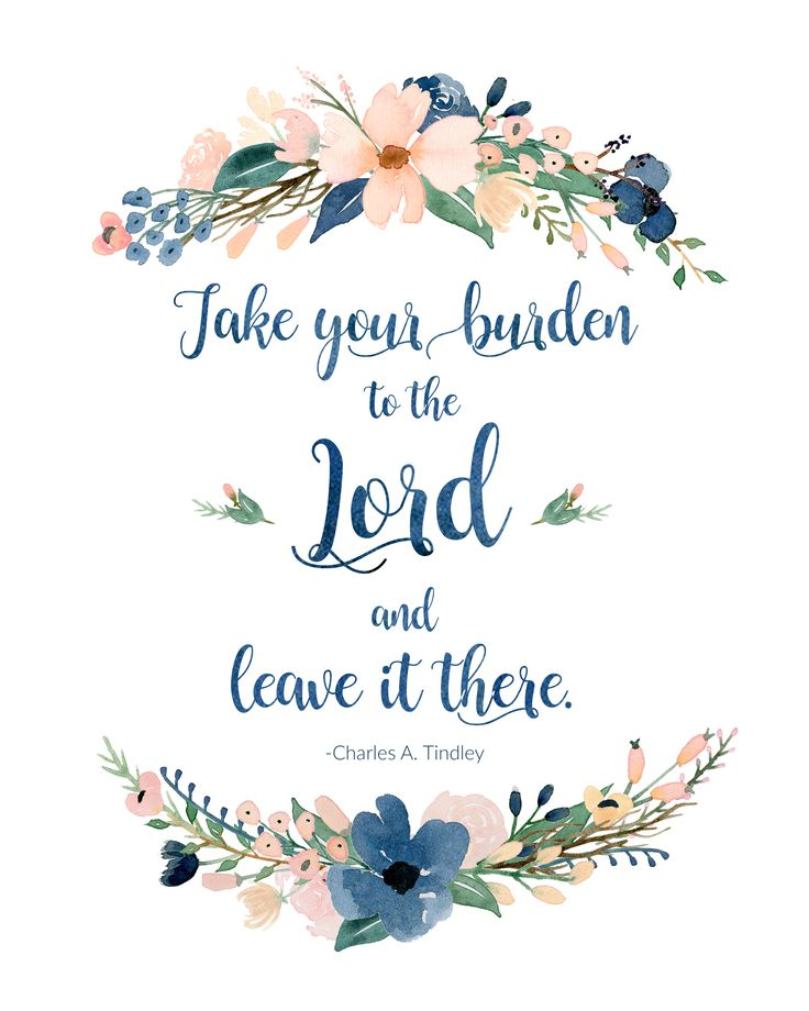 Take Your Burden To The Lord Free Watercolor Flower