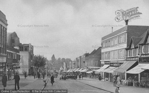 Worcester Park, Central Road c1950