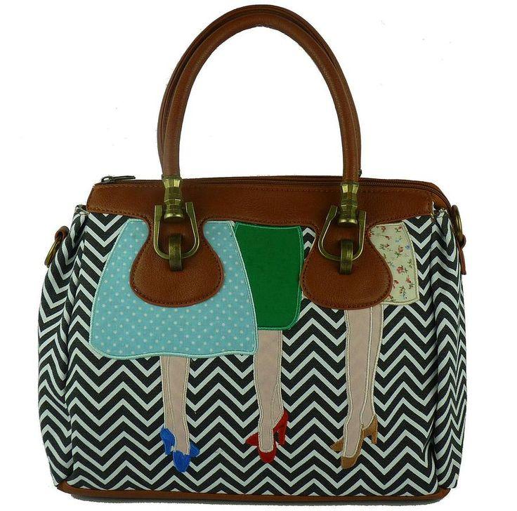 mad legs luxx handbag by kate garey   notonthehighstreet.com