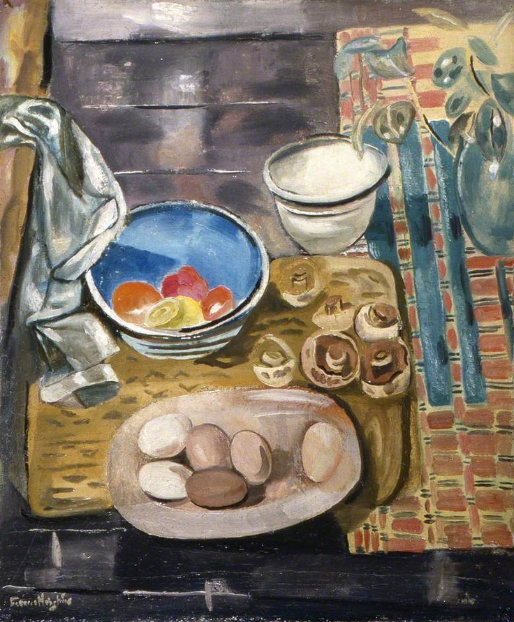 Still Life: Eggs, Tomatoes and Mushrooms by Frances Hodgkins