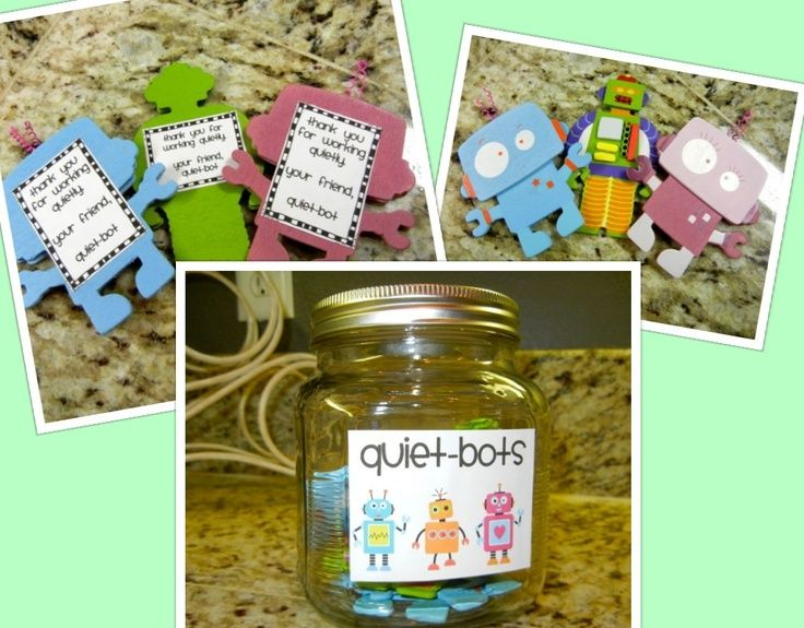 robot classroom theme | ... robots from Hobby Lobby. Adapted original idea to match robot theme