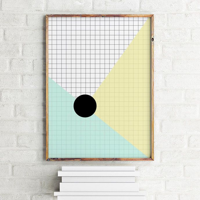 A personal favorite from my Etsy shop https://www.etsy.com/listing/244554609/geometric-art-print-poster-grid-and