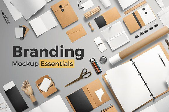 Branding Mockup Essentials by Mockup Cloud on @creativemarket