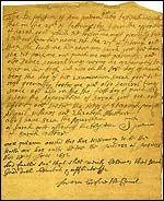 Written testimony of Ann Putnam against Sarah Good, 1692. #salemwitchtrials