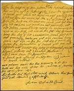 Written testimony of Ann Putnam against Sarah Good, 1692. #salemwitchtrials