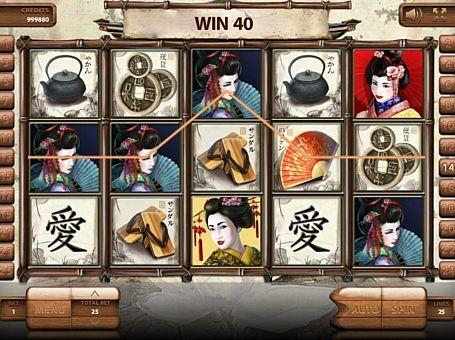Ігровий автомат Geisha з виведенням грошей  Компанія Endorphina випустила ігровий апарат Geisha, надихнувшись японськими традиціями. У ньому ви зможете отримувати реальні виграші, збираючи комбінації на 25 лініях. Крім цього з виведенням грошей з автомата вам допоможуть бонусні обертання і ризик-режим.