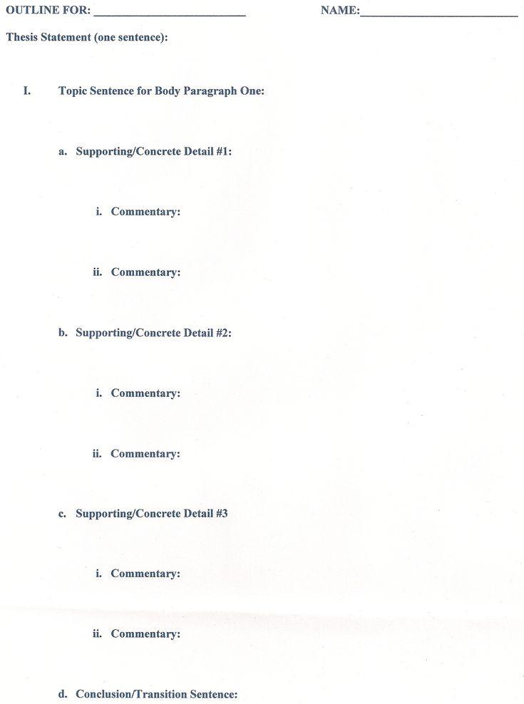 Pinterestu0027teki 25u0027den fazla en iyi Research paper outline fikri - speech outline template