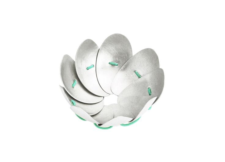 9 LEAVES LEFT bracelet. Handmade by HUNN/Karina Hunnerup