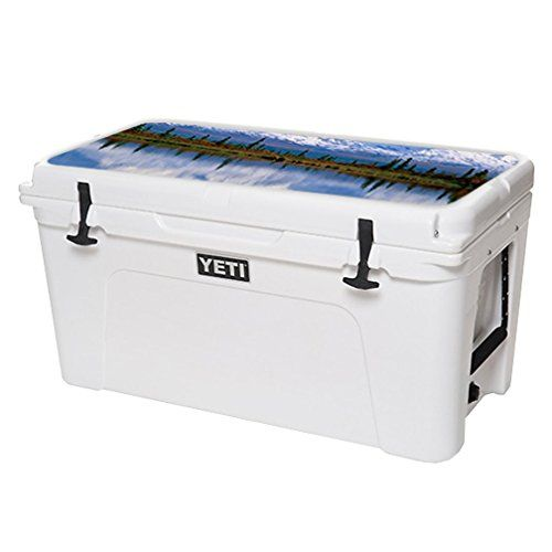 MightySkins Protective Vinyl Skin Decal for YETI Tundra 75 qt Cooler Lid wrap cover sticker skins Mountains * Check out the image by visiting the link.(This is an Amazon affiliate link)