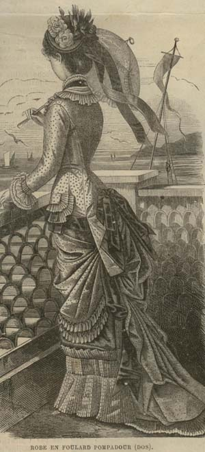 Natural Form Era: MODE ILLUSTREE PATTERN June 22,1879- ROBE EN FOULARD