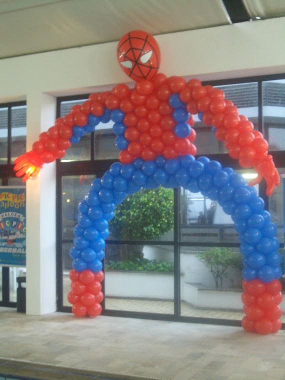 Spiderman Ballons Party Decoration