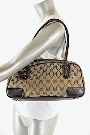 d77836c4e42e Get one of the hottest styles of the season! The Gucci Brown Monogram Canvas  Shoulder Bag is a top 10 member favorite on Tradesy.