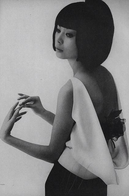 Hiroko Matsumoto - the first japanese model to be shown in paris during the 60's and the muse of pierre cardin work.