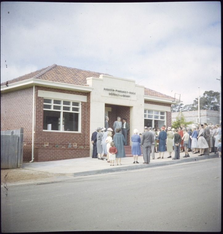 231763PD: Opening of the Augusta-Margaret River District Library, Margaret River, 1959. http://encore.slwa.wa.gov.au/iii/encore/record/C__Rb3430691