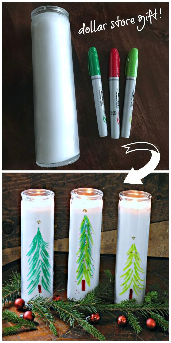 Dollar Store Christmas Tree Candles