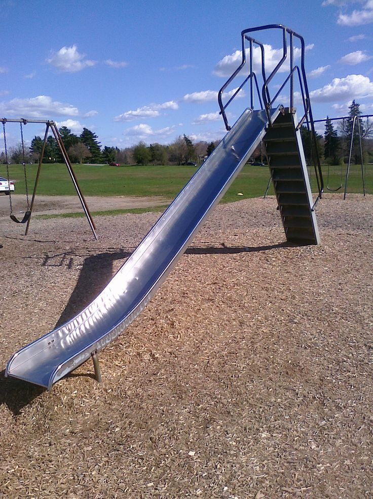 Ah, the metal playground slides! Loved these, except when they got super hot and burnt the heck out of your legs! lol: 80S, 70S, Metal Sliding, Only Legs, Metal Slides, 90S, Playground Slides, Metal Playground, Burning Metal