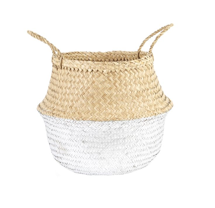 Silver Dipped Belly Basket-M