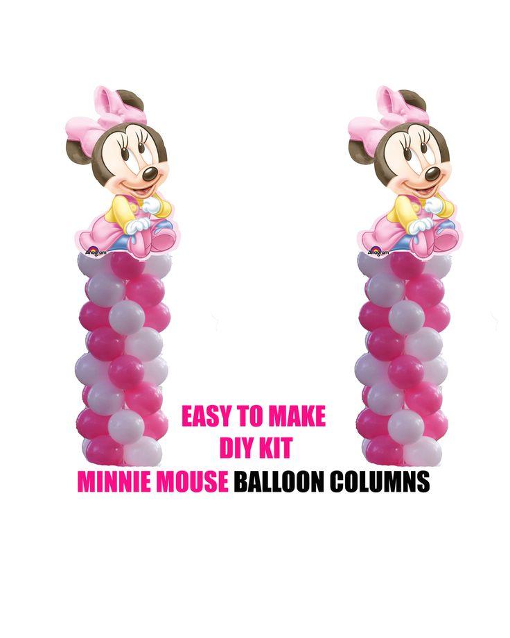 partyexpressinvitations - Baby Minnie Mouse Birthday Balloons Columns KIT, $40.00 (http://www.partyexpressinvitations.com/baby-minnie-mouse-birthday-balloons-columns-kit/)