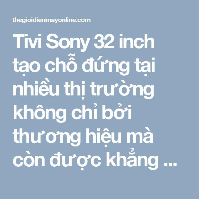 Tivi Sony 32 inch tạo chỗ đứng tại nhiều thị trường không chỉ bởi thương hiệu mà còn được khẳng định trong thiết kế và chất lượng hình ảnh. Thuộc dòng Bravia thế hệ mới,Tivi Sony 32 inch có viền màn hình thanh mảnh, tạo cảm giác không gian hiển thị tràn ra sát mép. Trong khi đó chân đế và thân máy được làm tiện dụng, gọn gàng.
