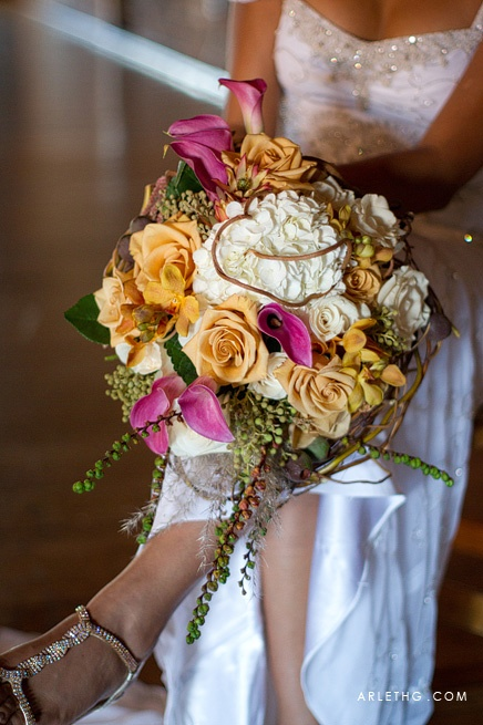 Wedding Bouquet Fall Flowers: The Mitten Building Redlands