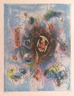 "Matta ""Hom'mère III. L'Ergonaute: ""Le conmer"""", 1977. Aguafuerte y aguatinta sobre Cobre de 49,5 x 37,5 cm., Papel Japón nacarado (suit) de 250 gr. de medidas 67 x 51,5 cm. Ej.:  100 + XXV HC (Arches) / suite 100 + 10 EA + XXV HC (Japón nacarado)  #art #etching"
