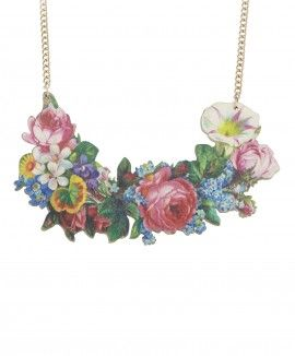 Decoupage Flower Large Necklace // Contemporary 2015 // £65
