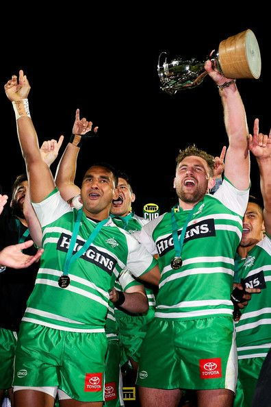 Callum Gibbins Photos Photos - Callum Gibbins and Semisi Masirewa of Manawatu celebrate after winning the ITM Cup Championship Final match between Manawatu and Hawke's Bay at FMG Stadium on October 24, 2014 in Palmerston North, New Zealand. - Manawatu v Hawke's Bay