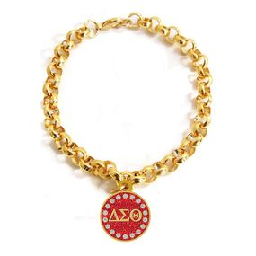 Delta sigma theta gold links bracelet email to order for Delta sigma theta jewelry
