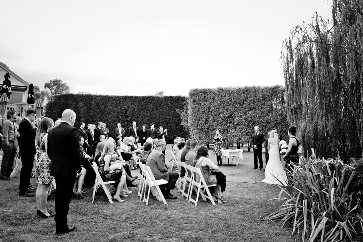 Ceremony by the willows:) Weddings at Stillwater at Crittenden, Mornington Peninsula www.stillwateratcrittenden.com.au